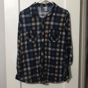 Love Potion Plaid Collared Button Up